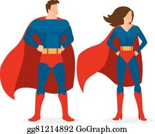 Superwoman Clip Art.
