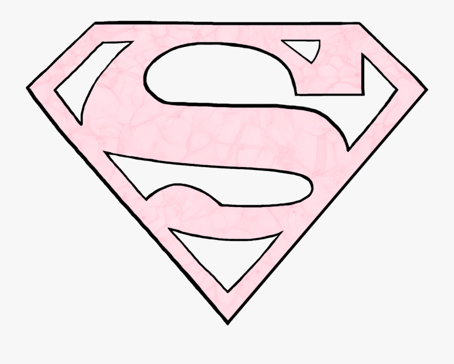 Superman Superwoman Logo Pink Freetoedit.