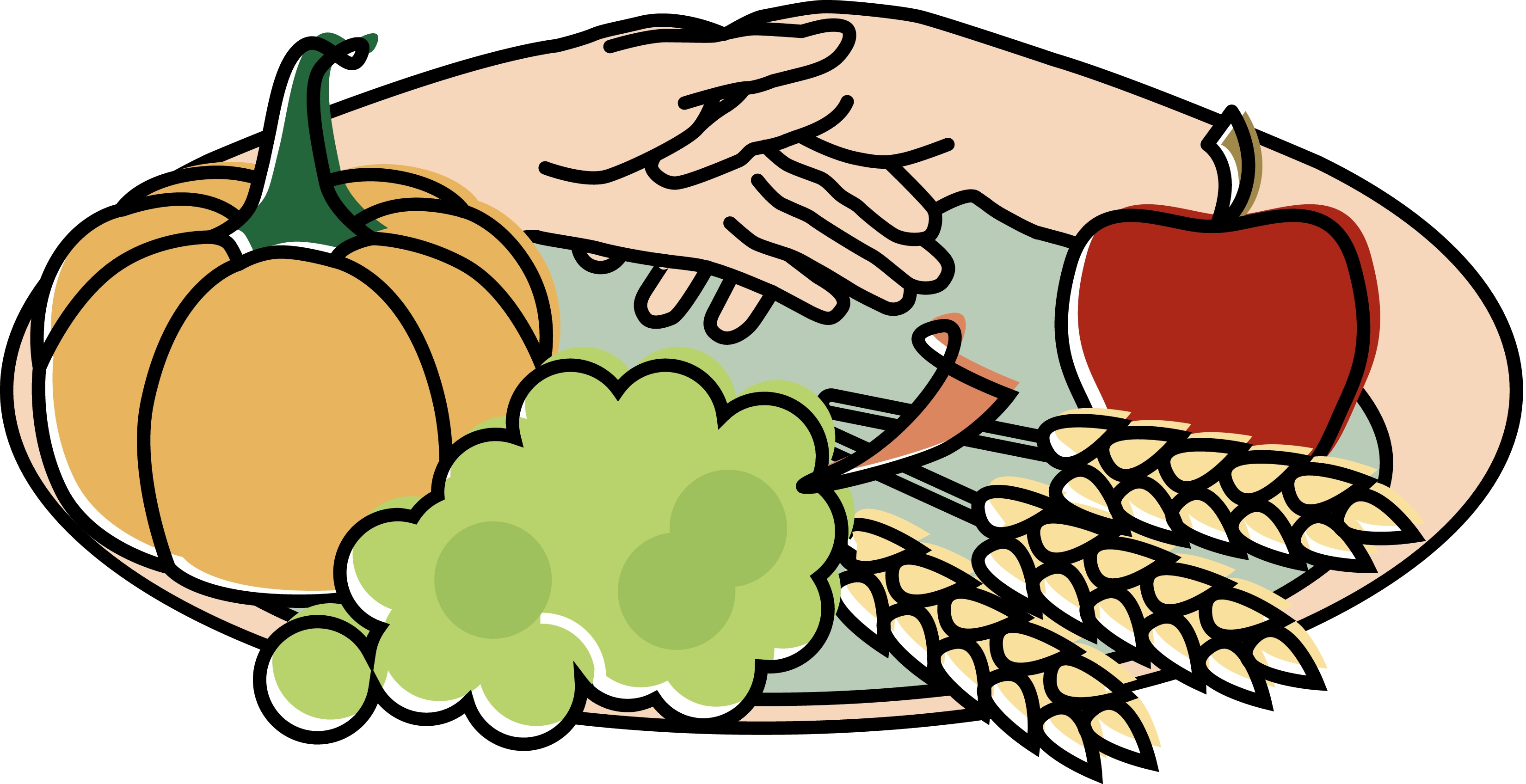 Harvest supper clipart.