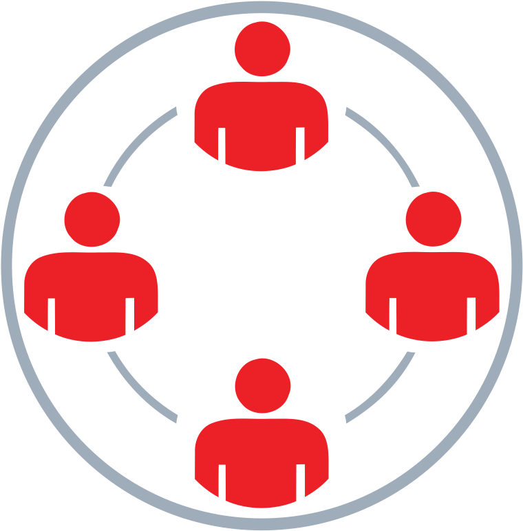 Group Conected In A Circle.