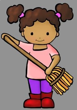 Classroom Helper Kids Jobs Clip Art (21 Jobs).