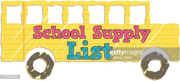 Supply List Heading C Clipart Image.