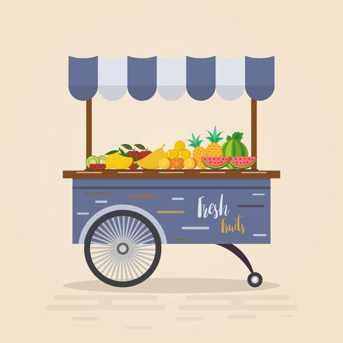 Farm shop. Local market. Selling fruit and vegetables.