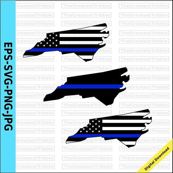 Thin Blue Line North Carolina USA Flag Thin Blue Line Flag.