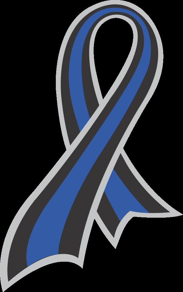 Thin Blue Line Ribbon.