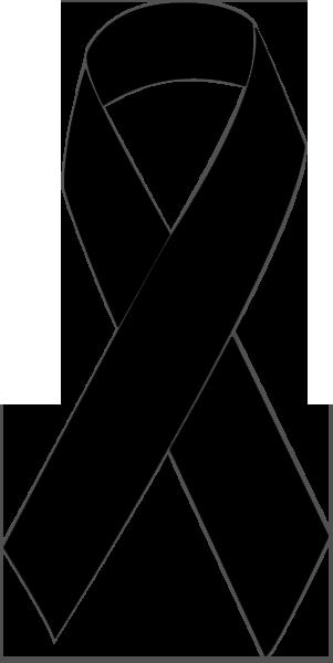 Clip Art of a Black Awareness Ribbon.