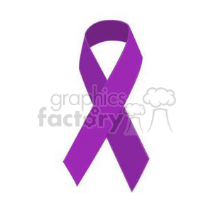 purple support ribbon clipart. Royalty.