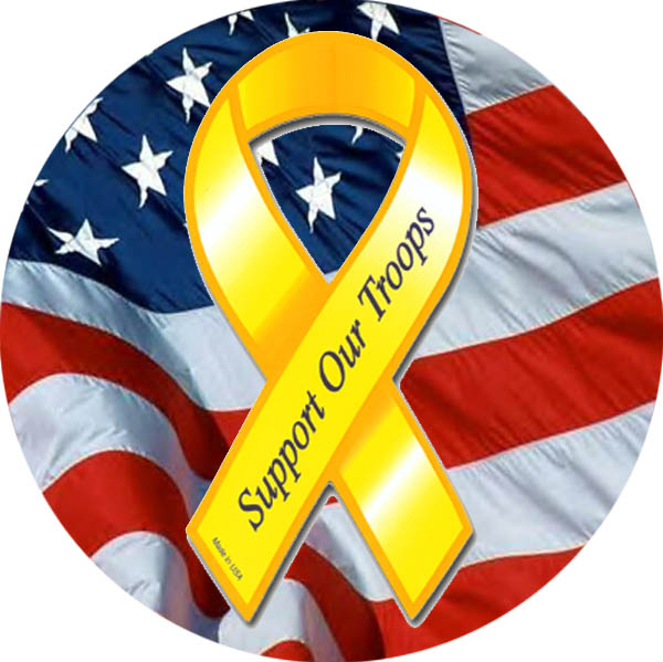 Support Our Troops Ribbon Clip Art N4 free image.