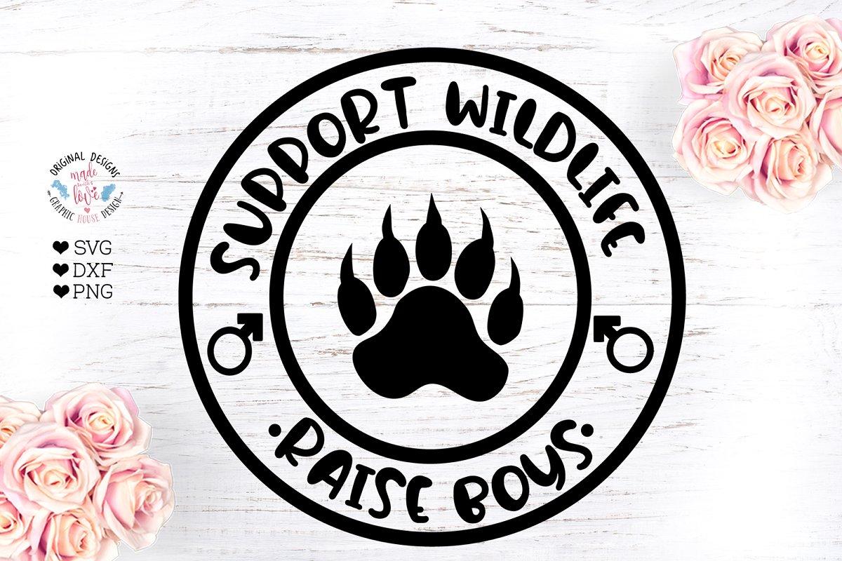 Support Wildlife Raise Boys ~ Illustrations ~ Creative Market.