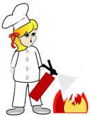 Kitchen Fire Clipart.