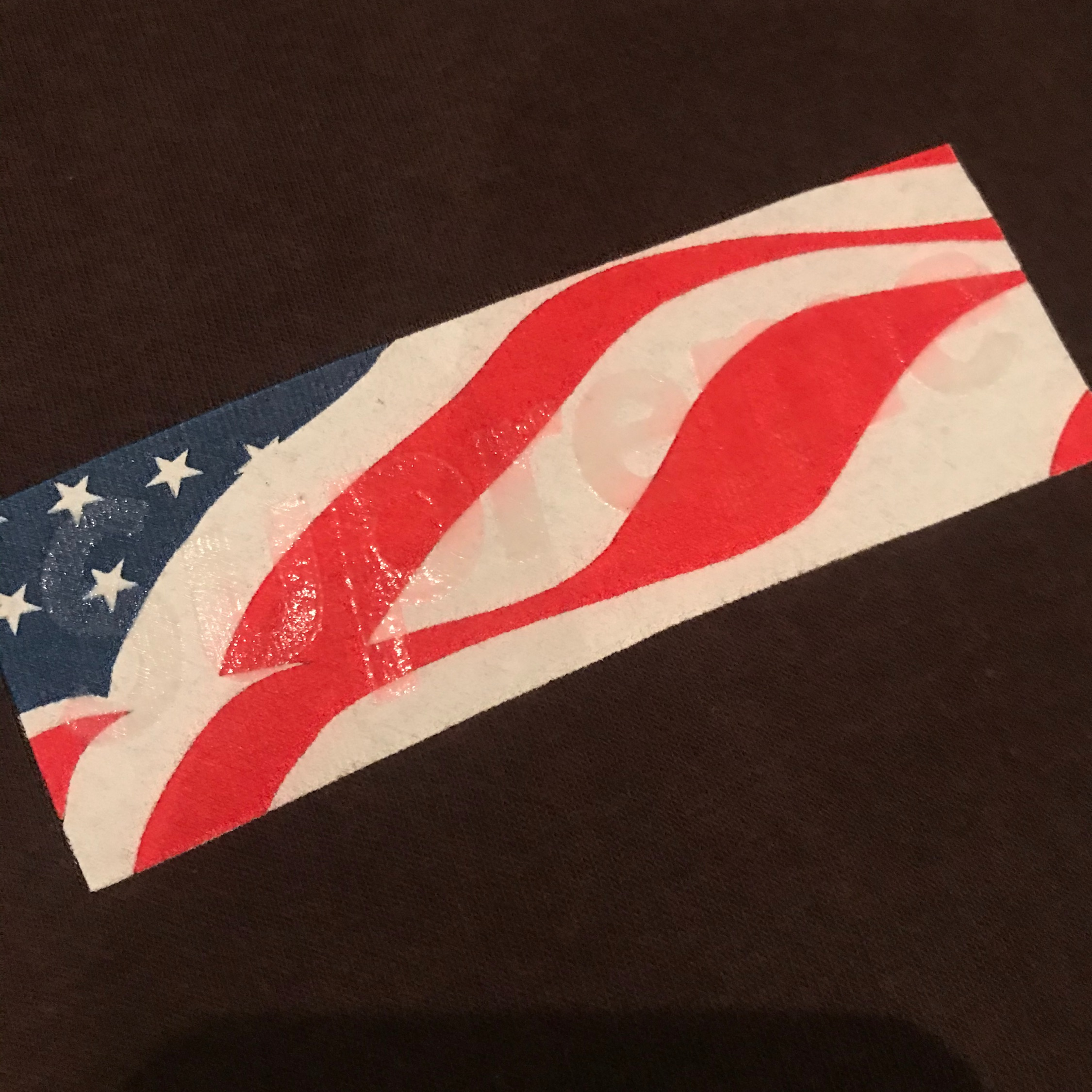 Supreme 9/11 Box Logo Tee In Brown Size Xlarge!.