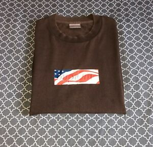 Supreme Tee Shirt 9/11 Box Logo Brown Authentic EXTREMELY.
