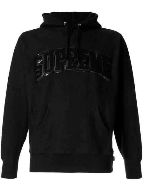 Arc Logo Hoodie In Black.
