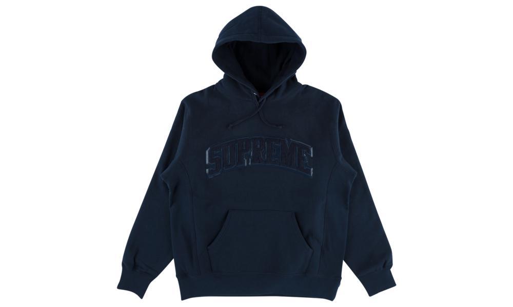 Tent Leather Arc Logo Hooded Sweatshirt \'fw 17\'.