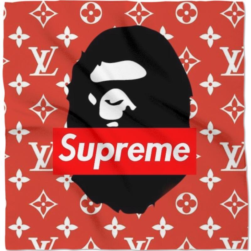 Supreme X Luis Vuitton X Bape.