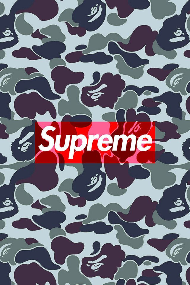 Bape Camo Supreme Wallpaper. #supreme #bape #camo #iphone.