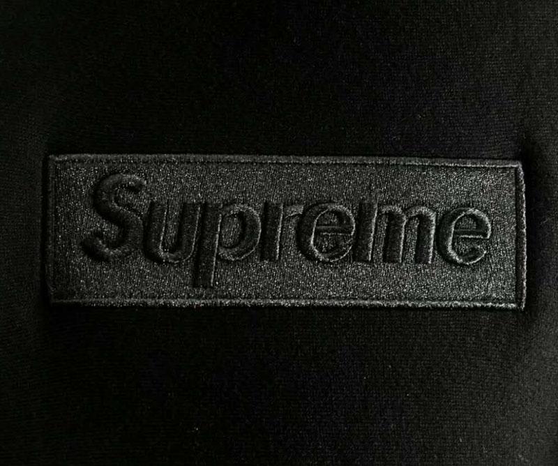 Supreme Black Box Logo Hooded Sweatshirt.