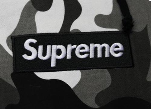 Black Camo Box Logo Supreme Hoodie.