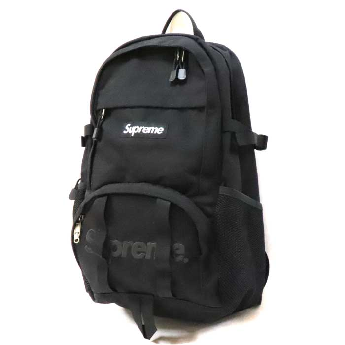 Supreme / シュプリーム Box Logo Backpack / box logo backpack Black / black black  2015SS domestic regular article old and new things product.