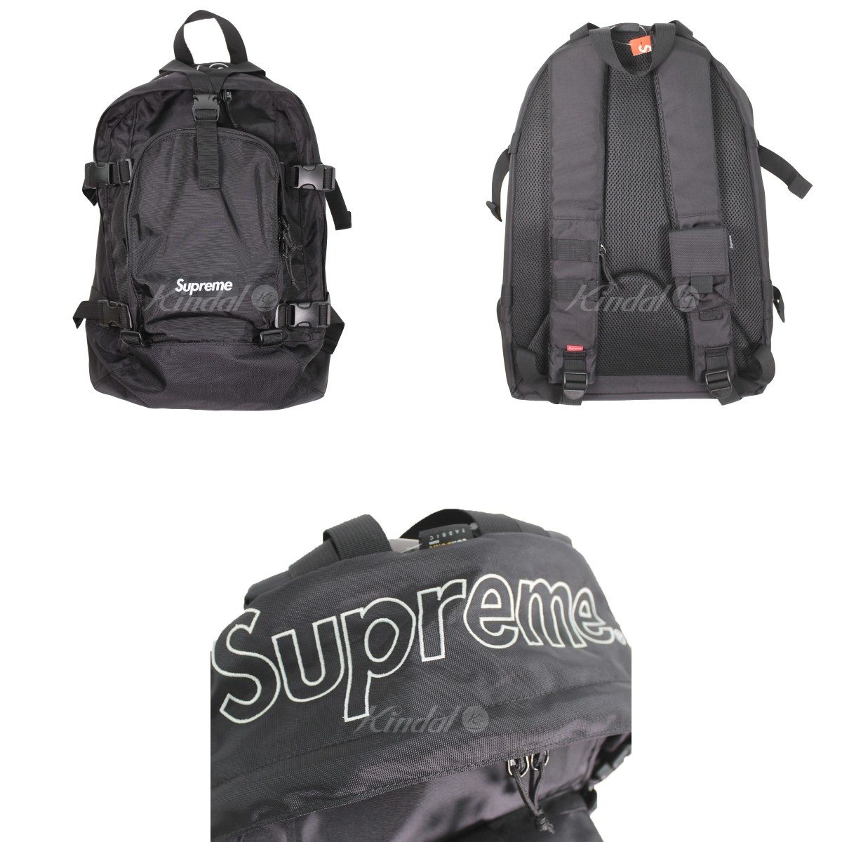 SUPREME 19AW Backpack box logo backpack black size:.