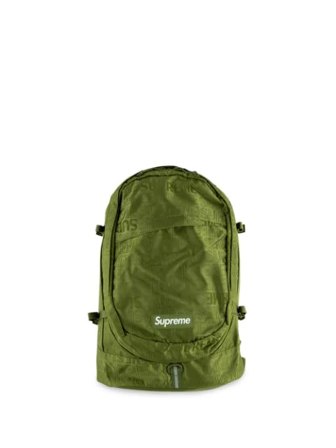 Box Logo Backpack In Green.