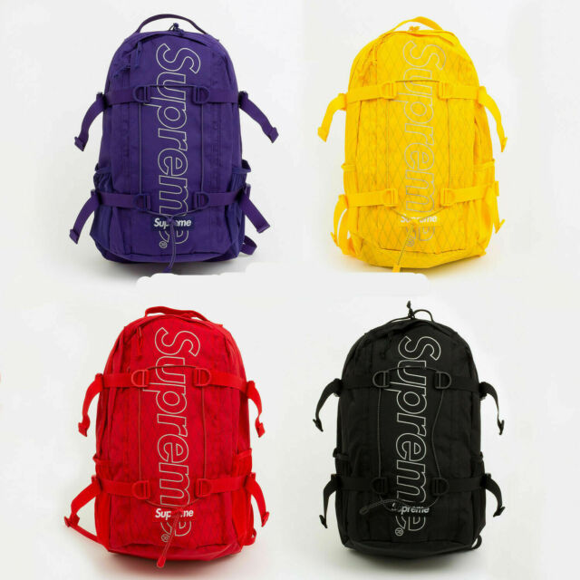 Supreme² FW18 Backpack 45th box logo school bag NEW shoulder waist duffle  camo.