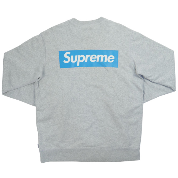 Details about SUPREME 08SS Back Box Logo World Famous Crewneck Sweat GRAY M.