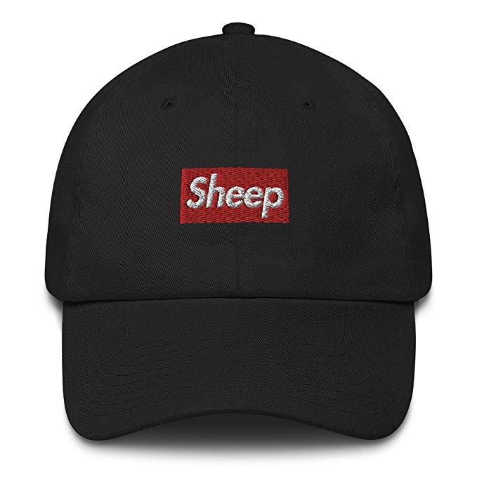 Sheep Box Logo Made in USA Cotton dad Hat Cap.