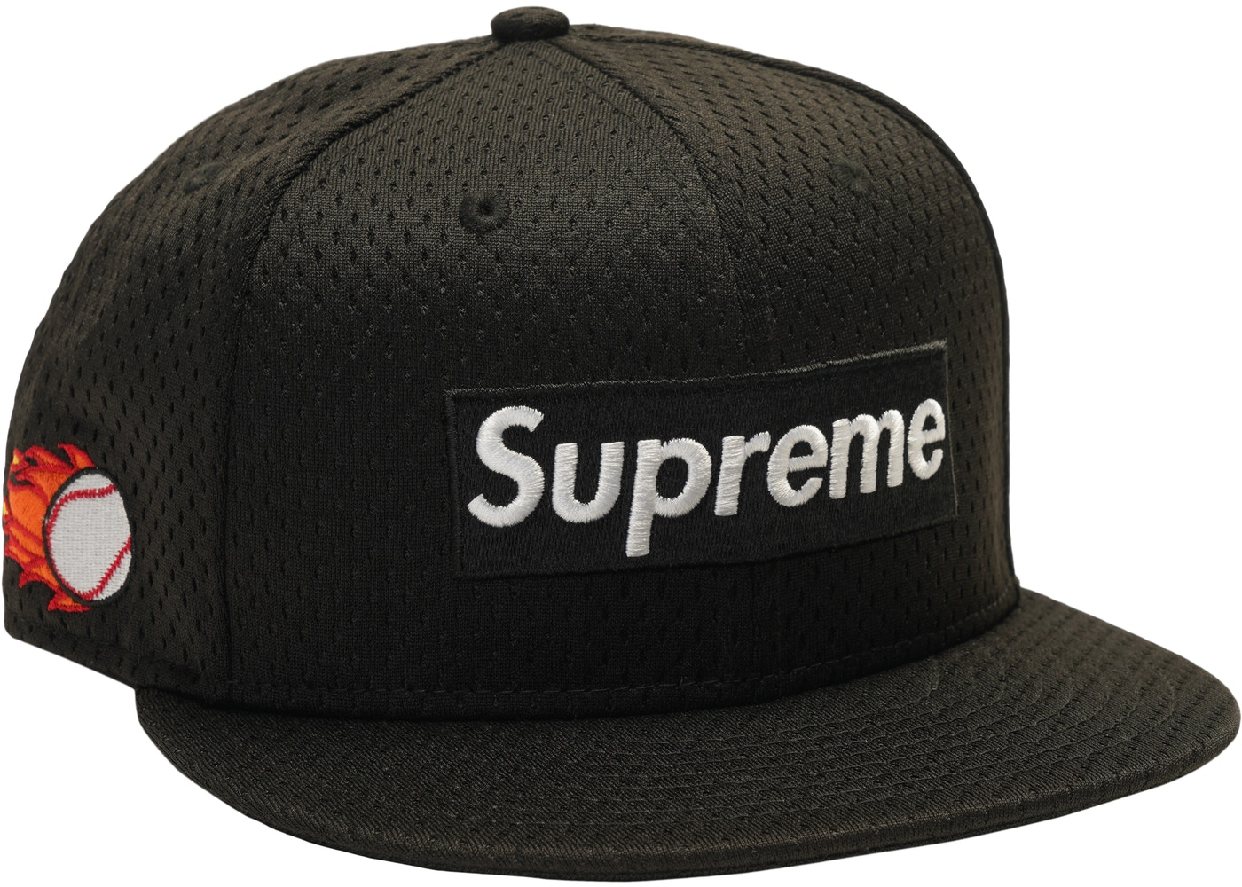 Supreme New Era Mesh Box Logo Cap Black.