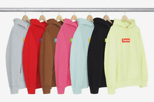 Details about SUPREME BOX LOGO HOODED SWEATSHIRT PALE LIME L FW17 2017  HOODIE CDG PCL.