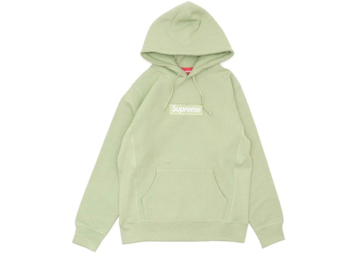 Supreme Box Logo Hooded Sweatshirt Sage.