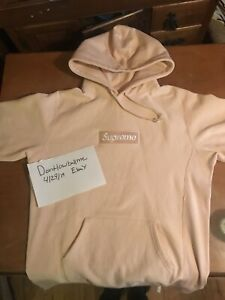 Details about Supreme Box Logo Hoodie Peach Large.