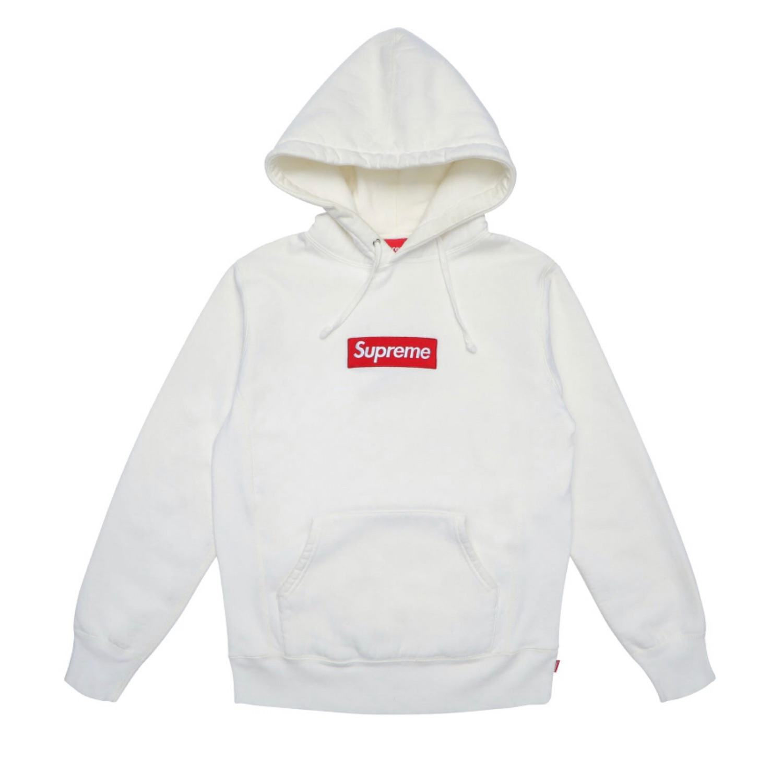 Supreme Box Logo Hoodie White Size L.