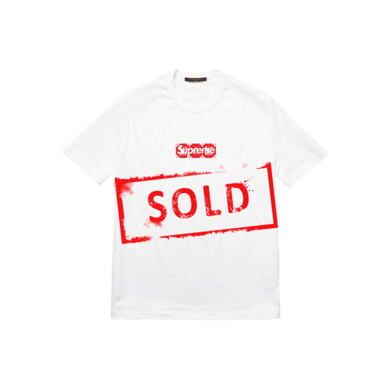 LOUIS VUITTON X SUPREME Box Logo Tee.