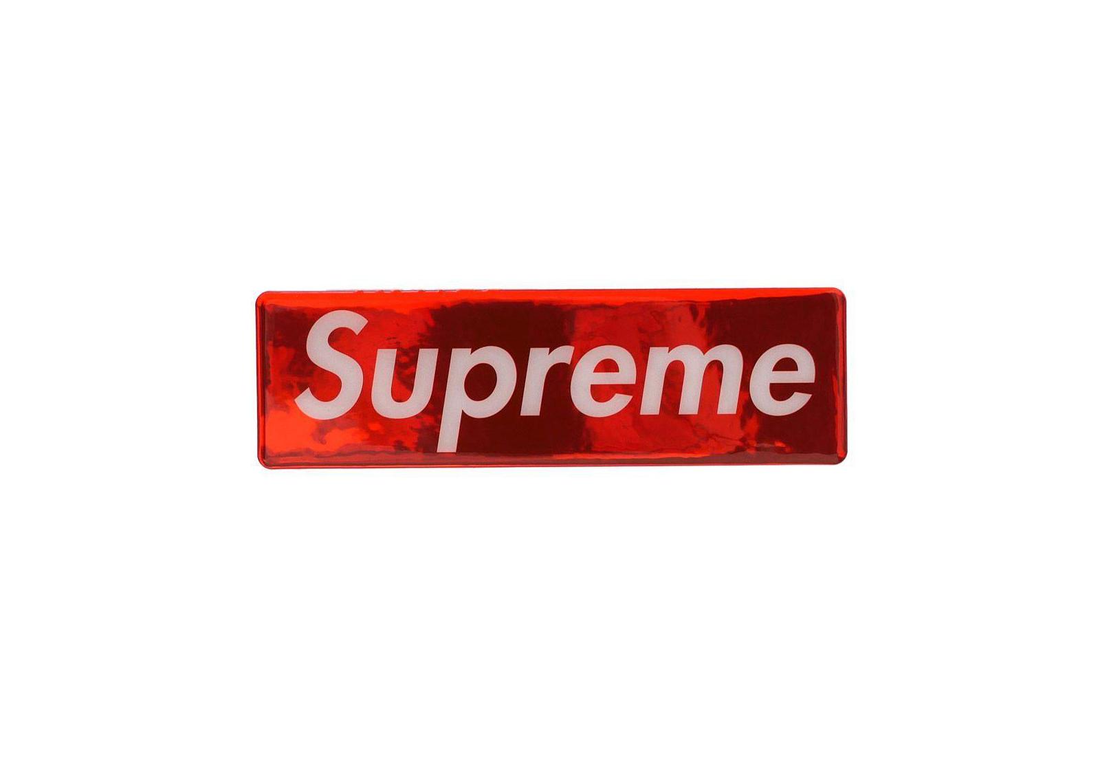 Supreme Plastic Box logo Sticker FW17 Red.