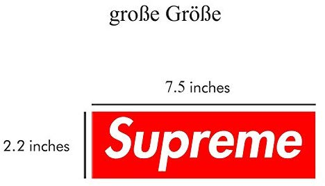 5 Pieces Large Supreme Stickers (7.5 Inches x 2.2 Inches) Skate Sticker.