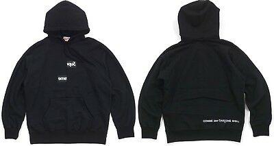 Supreme x Comme des Garcons CDG Split BOGO Box Logo Sweatshirt Black size  Large.