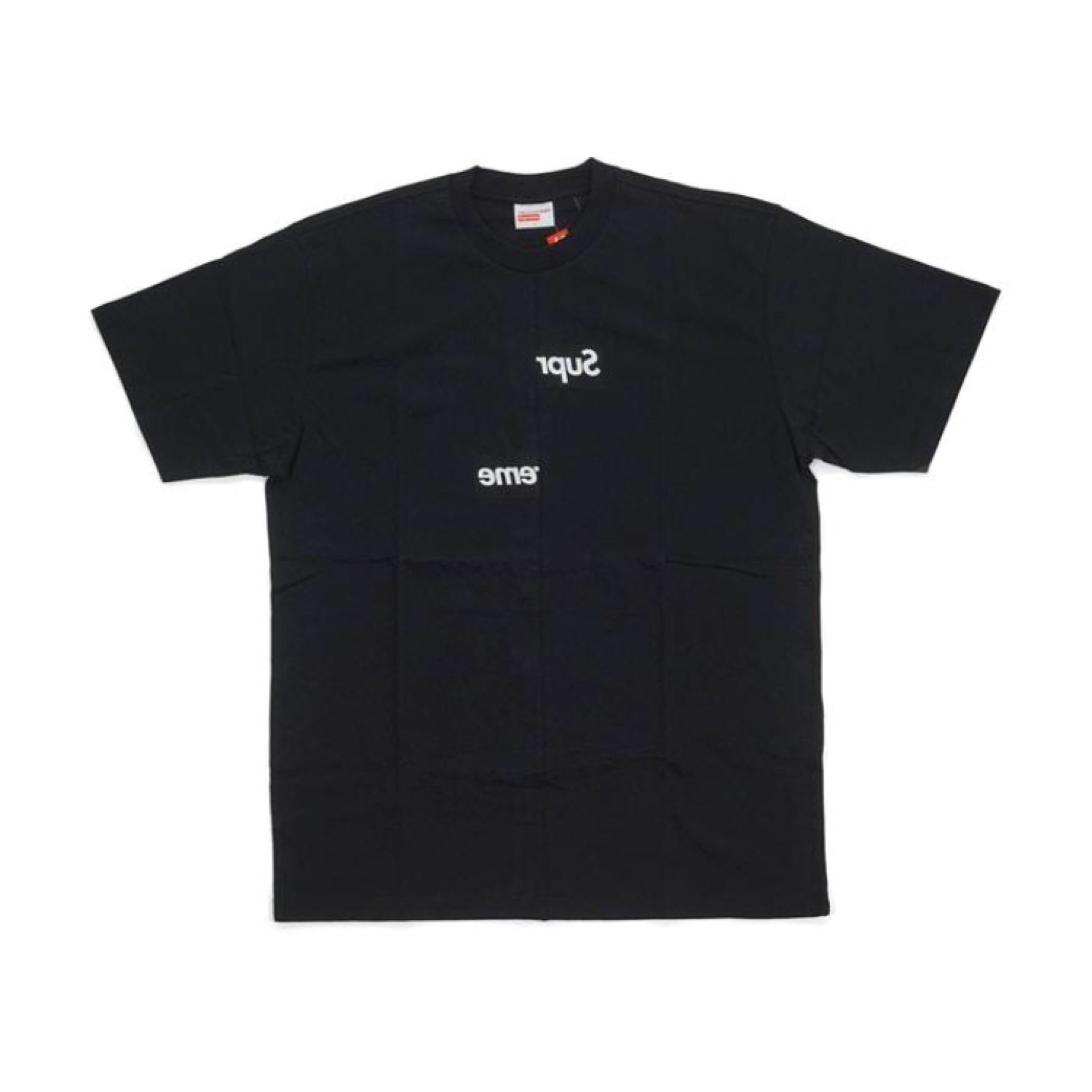 Supreme Cdg Shirt Split Box Logo Tee.