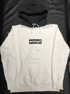 Details about Supreme x CDG Harold Hunter Box Logo Hoodie *RARE SIZE SMALL*.
