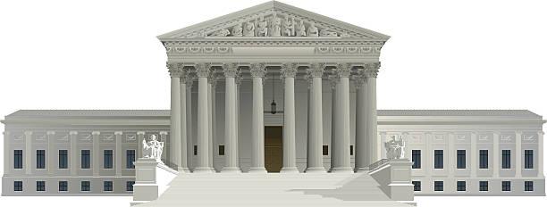Supreme Court Building Clip Art, Vector Images & Illustrations.