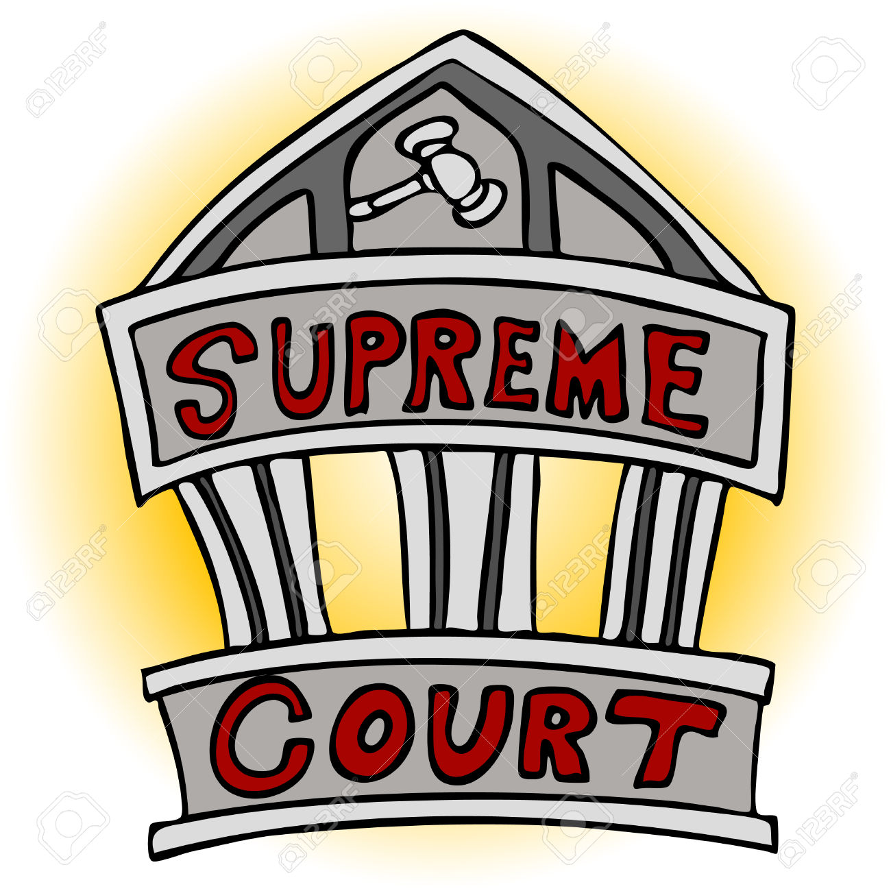 An Image Of The Supreme Court Building. Royalty Free Cliparts.