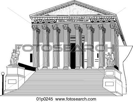 Clipart of supreme court (congress) 01p0245.