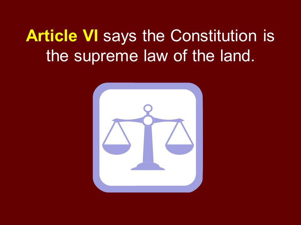 Supreme Law Of The Land Clipart.