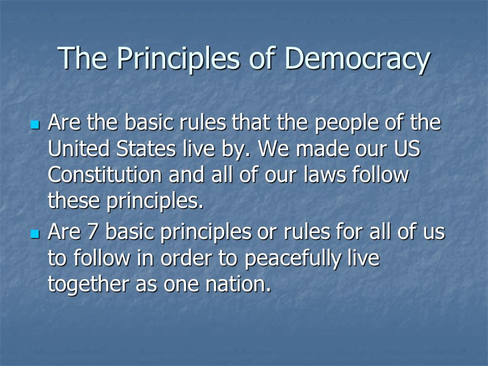 "Principles of Democracy. ""Supreme Law of the Land"" In the."