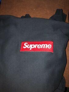 Details about Supreme Box Logo Hoodie Navy Size Medium.