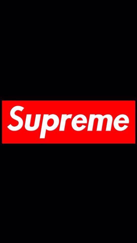 Supreme logo background.