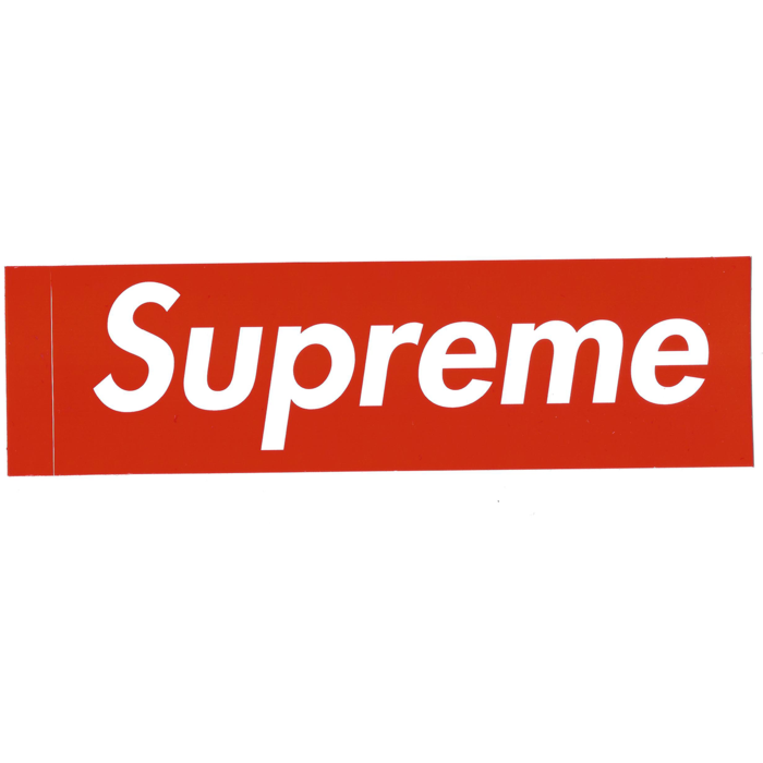 Supreme Red Box Logo Sticker.