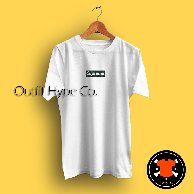 Supreme Mo' Wax Box Logo T Shirt.