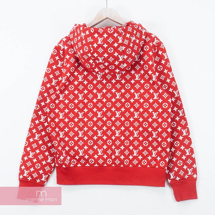 Supreme X Louis Vuitton 2017AW Box Logo Hooded Sweatshirt シュプリーム X Louis  Vuitton box logo hooded sweat shirt parka pullover red size S present gift.