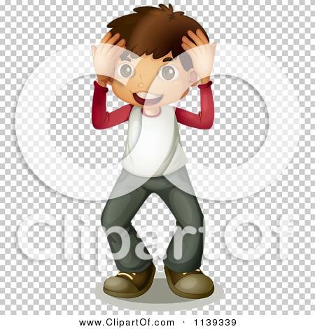Cartoon Of A Surprised Boy.